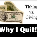 Why I Quit Tithing