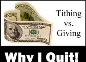 Why I Quit Tithing