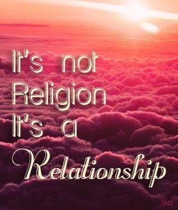 Not Religion Relationship