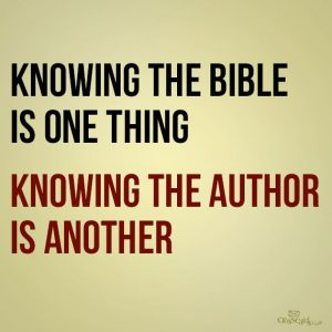know Bible or know Author